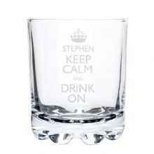 Keep Calm Whisky Glass